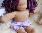 Lavender Linen/Cotton Bloomers for 12, 13, 14, 15 or 16 Inch Waldorf Dolls -- Made to Order