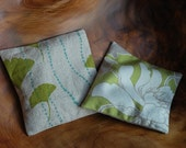 Spring SALE -- Lavender Sachets - Gingko Leaves and Spring Green Floral
