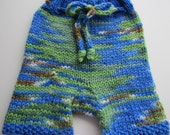 "Medium ""Earthy Love""  Hand Knit Wool Diaper Soaker Shorties"