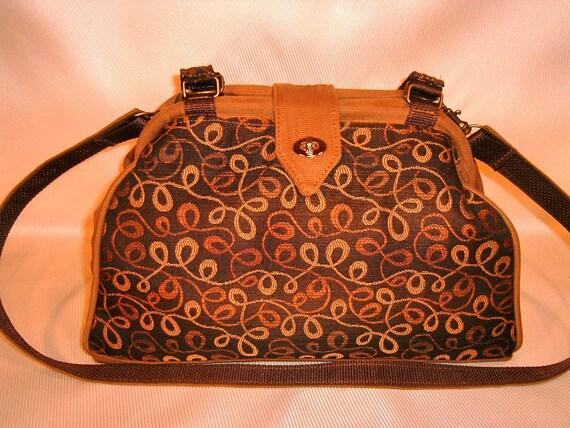 Bella Knitting/Crochet Handbag-Caramel Macchiato