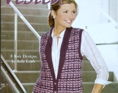 Knitting Pattern Book Carefree Sweaters Leisure Arts 2001