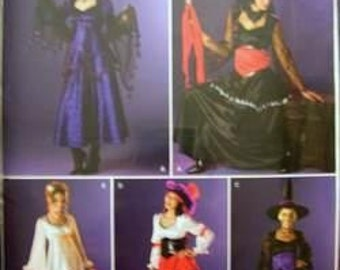Sewing Pattern Simplicity 0547  Misses' Costumes Witch Angel Uncut Complete