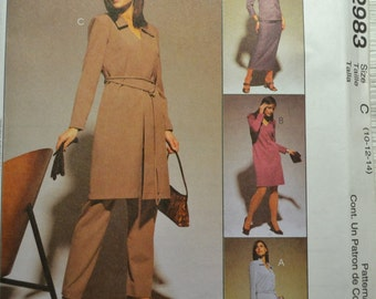 Sewing Pattern McCall's 2983 Dress Skirt Pants Complete Uncut