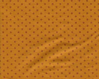 Judaic Fabrics Fat Quarters Rust Stars on Gold