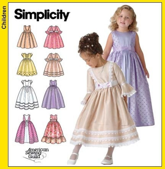 Girls Dress Designs on 4337 Sewing Pattern Child S Flower Girl Dress Size 5 8 Uncut Complete