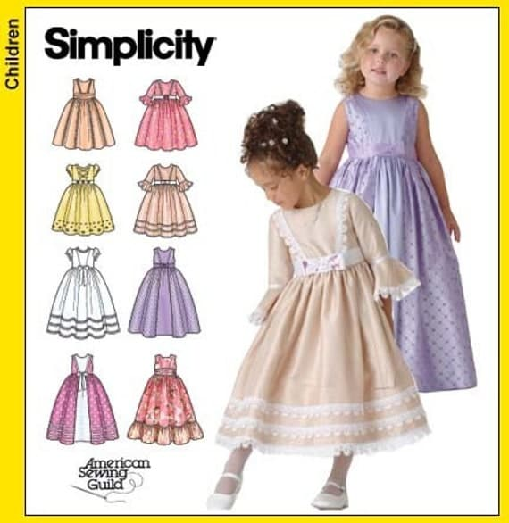 Simplicity 4337 Sewing Pattern Child S Flower Girl Dress