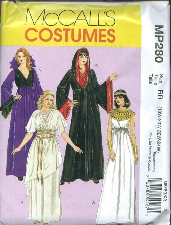 Costume Sewing Pattern Cleopatra Greek Goddess Sorceress