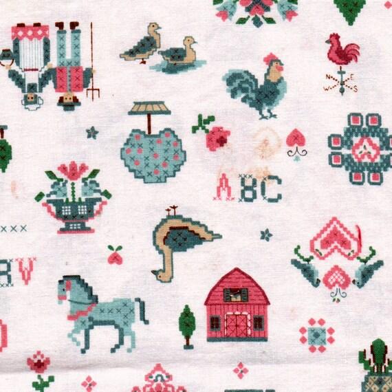 Vintage Fabric Yardage Cranston Amish Country 100% Cotton 2 Yards