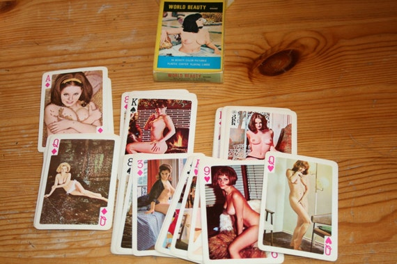 world beauty brand nudie playing cards 54 color pictures