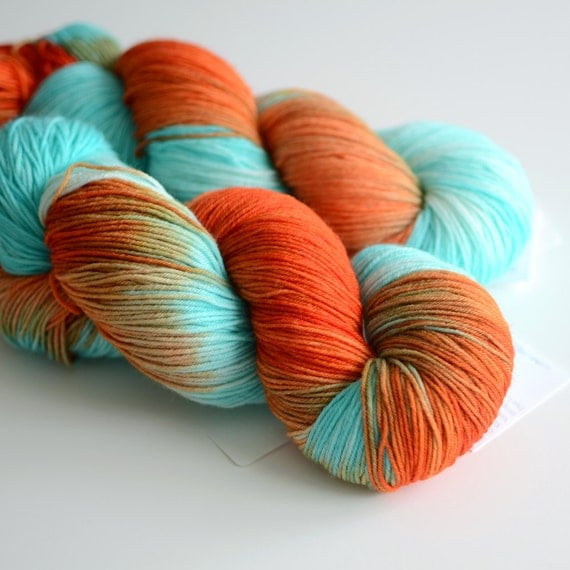 Hand Dyed Yarn : - Hand Dyed Sock Yarn - Self Striping Yarn - Superwash Merino Wool ...