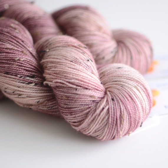 Persephone - Tweed Sock Yarn - Hand Dyed Yarn - Fingering Weight ...