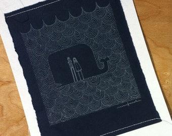 whale gocco print