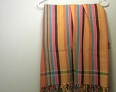 Vintage shawl, scarf in Peruvian Cotton - pareo or sarong