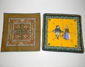 Vintage cotton place mats, napkins, mats