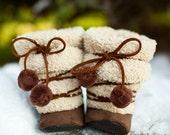Fuzzy Eskimo Boots (Chestnut)