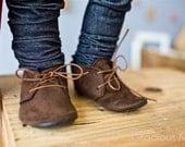 Dapper Brown Suede Shoes - Baby Boy