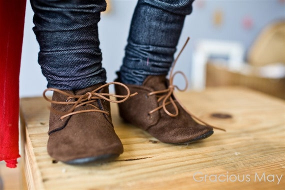 Items similar to Dapper Brown Suede Shoes - Baby Boy on Etsy