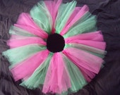 Pink and Green Tutu Size 12-24 months