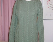 SUMMER SALE - Long Cabled Wool Pullover 25