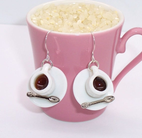 coffee cup earrings eaob7 cafe jewelry coffee by