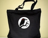 Raven and Moon Xlarge Tote Bag