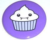 Vampire Cupcake - 2.25 Inch Large Button / Magnet / Bottle Opener / Pocket Mirror - Sick On Sin