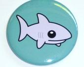 Shark - 2.25 Inch Large Button / Magnet / Bottle Opener / Pocket Mirror - Cute Animal - Sick On Sin