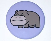 Hippo - Large Magnet (2.25 inch)