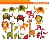 Clip art Retro Jungle 07174 - Digital Images - Kawaii cute graphics for commercial use