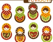 Simply Retro Matryoshka 07272 - Digital Images - Clipart for Commercial Use