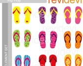 Girls Flip Flop Clipart E063  - Graphic element - Cute digital clip art for Commercial Use