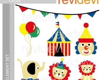 Circus clip art commericial use, digital clipart, digital images - Bright Circus E028