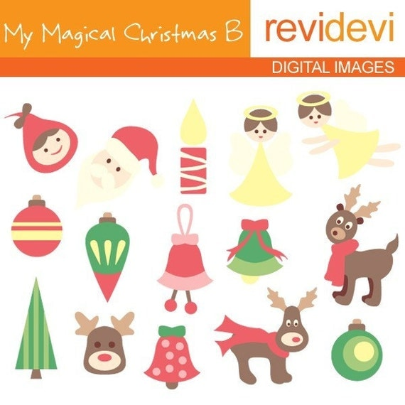 My Magical Christmas B 08027.. Commercial use digital cliparts