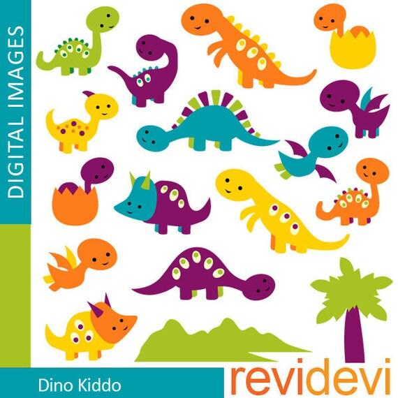 Cute DINOSAUR clipart digitals / Dino Kiddo - Dinosaur digital cliparts - Commercial use