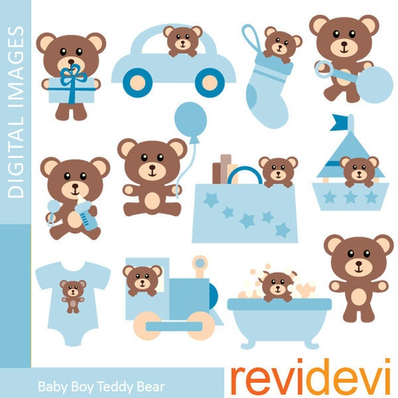 Baby boy teddy bear clip art - photo#2