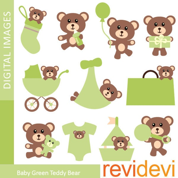 Baby boy teddy bear clip art - photo#20