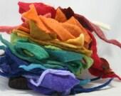 handmade bag wool felt scraps supplies 4, medium rainbow