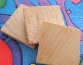 24 Wooden Square Tile Blanks for Making Resin Pendants - 1x1 \/ 25 mm squared - Scrabble Tile alternative