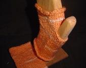 Orange Sherbet Fingerless Gloves