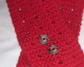 GERANIUM alpaca wool and cotton scarflette 35 ins x 4 ins
