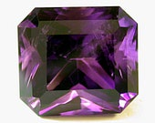 SIBERIAN AMETHYST Vintage Gemstone Dark Purple emerald cut 10.05 cts fg73