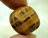 Vintage WOOD BEAD carved African Focal 18 x 20mm pkg1 cb261