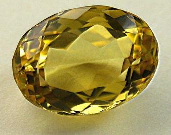 VINTAGE GOLDEN BERYL Faceted Oval Gemstone 5.31cts fg111