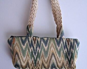Women's Handmade Southwest Handbag , Chevron Shoulder Bag  , Casual Purse , Earth Tones , Over the Shoulder Bag , Southwest Bag