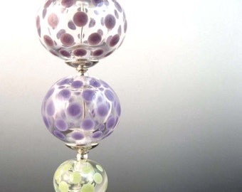 Light Sleeper....Lampwork Glass Necklace...