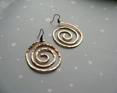 Custom Order for Calahill - Galaxy  -  hammered Copper  Earrings (2 pairs