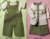 Crochet Sweetheart Baby Outfit Sets Afghan, Skirt, Onesie, Socks and More - New OOP Pattern Book