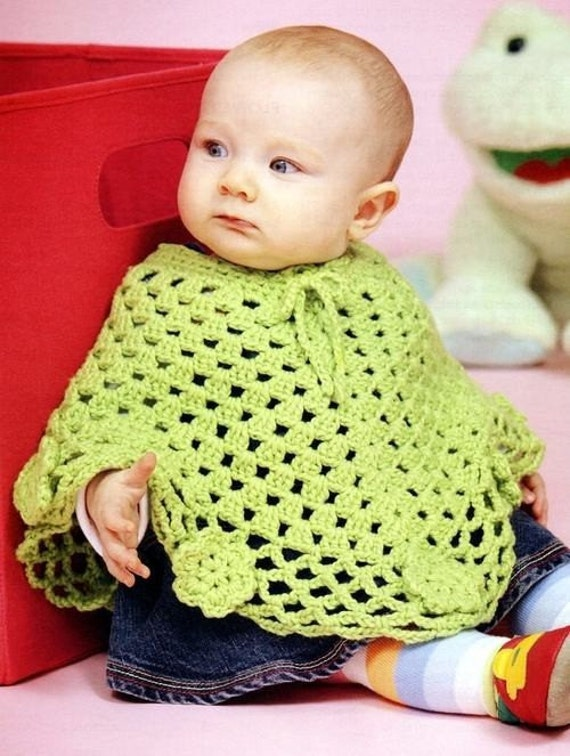 Free Crochet Pattern For A Baby Cowgirl Outfit : Baby Toddler Wraps Poncho Crochet Patterns