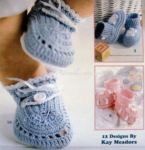 Thread Crochet Baby Booties by the Dozen Patterns New Book
