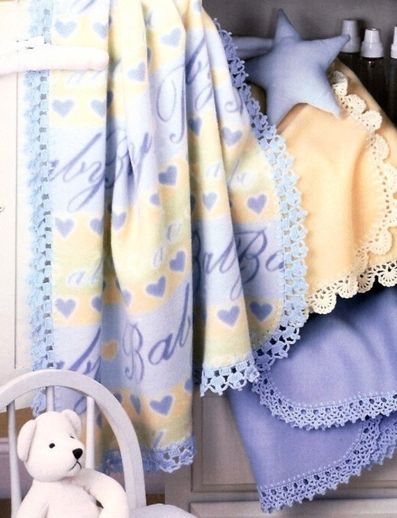 Fleece Baby Blanket Edgings Crochet Patterns